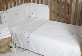 clair de lune stardust 3 piece cot cot bed bedding bale white