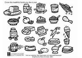 Coloring Pictures Of Healthy And Unhealthy Foods Murderthestout