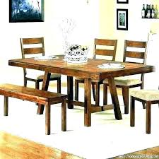 rustic solid wood dining table rustic solid wood dining tables distressed chairs set with bench and