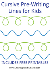 Writing Lines For Kindergarten Cursive Pre Writing Lines And Strokes For Kids Free Printable
