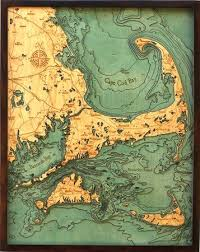 Nautical Charts New England Coast New England Layered Wood Nautical Chart Giftsoul Things
