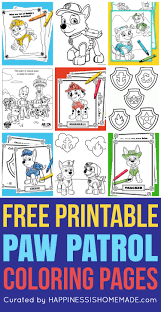 Color all these weird and wonderful doodles by marie and then be inspired to do your own crazy drawings! Free Paw Patrol Coloring Pages Happiness Is Homemade