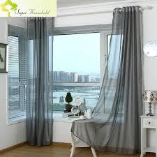2016 modern curtains for living room tulle window bedroom cortinas yarn gray window curtain sheer