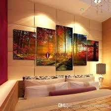 five panel wall art stylish large canvas art regarding 5 panel forest painting wall picture home