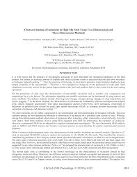 PDF) Characterization of Inclusions in High-Mn Steel Using Two-Dimensional  and Three-Dimensional Methods