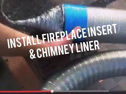how to install fireplace insert liner in brick chimney existing clay flue liner