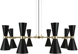 cairo 8 arm retro modern chandelier black or white