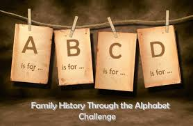 family history through the alphabet you