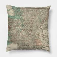 History of pillows Headrest Teepublic Washington State History Pillows Teepublic