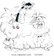 Forest Animals Coloring Page Doodle Forest Animals Plants Coloring