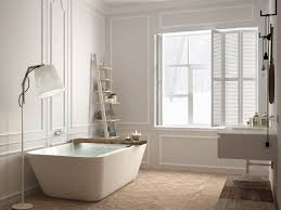 white tub kaskade freestanding bathtub flipped installation with wall mounted faucet