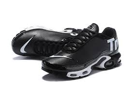 nike mercurial air max plus tn leather men s women s running shoes black white