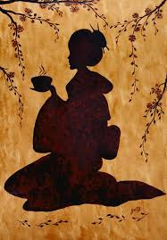 Paint the plate with neutral gray and titanium white. Beautiful Geisha Coffee Painting Painting By Georgeta Blanaru
