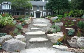 backyard landscape with rocks large landscaping rocks backyard ideas rocks