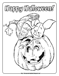 A Very Cute Halloween Coloring Sheet