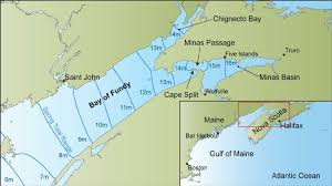 Map Of The Gulf Of Maine And Bay Of Fundy Showing Spring