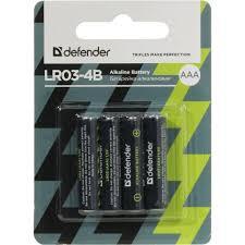 <b>Батарейки</b> AAA <b>Defender LR03</b>-<b>4B</b> 4 шт. — купить, цена и ...