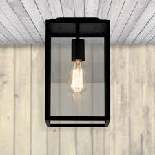 metal black flush mount outdoor ceiling light