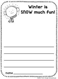 descriptive writing printable included in winter writing for winter is snow much fun writing printable included in winter writing for kinders