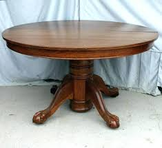 home design outstanding antique round oak pedestal dining table best for