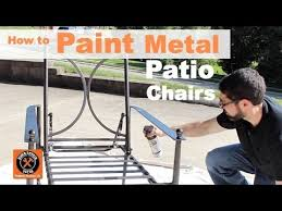 how to paint metal patio chairs step