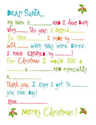 Printable Letter Templates Letters To Santa Free Printable The Crafted Sparrow