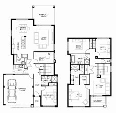 two story house floor plans fresh double y 4 bedroom house designs perth