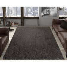 ottomanson contemporary solid dark grey 8 ft x 10 ft area rug