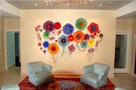 modern glass wall art decor for living room basement kids room glass wall art image of