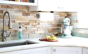 a detail worth not overlooking stone kitchen backsplash white tiles
