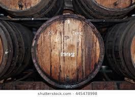oak barrels stacked top. Old Wine Barrels In The Cellar, Madeira Island, Portugal. Oak Stacked Top