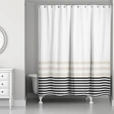 Black shower curtains Cool Quickview Beigeblack Wayfair Black Shower Curtains Youll Love Wayfair