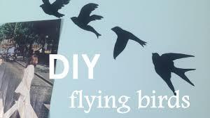 diy tumblr wall art flying birds on bird silhouette wall art with diy tumblr wall art flying birds youtube