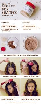 how to make and use natural dry shampoo via my hair smells like cookies