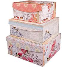 Decorative Storage Boxes Wholesale Decorative Nested Flip Top Storage Boxes Nested Set of 100 100 pc 2
