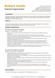 Application Support Analyst Sample Resume Stunning Production Support Analyst Resume Samples QwikResume
