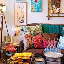 astonishing bohemian style living room with colorful accessories astonishing colorful living