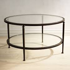 oval glass coffee table metal frame lincoln glass top round coffee table 14