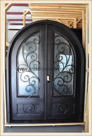 wrought iron door front iron door glass entry door 1