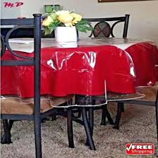 red plastic tablecloth clear vinyl tablecloth protector durable plastic table cover spills round red plastic tablecloth