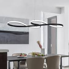 modern chandelier rings circle ceiling