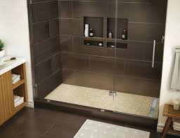 tile redi shower pan trench x right linear drain single curb with