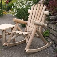 rustic wood patio furniture. Log Rockers \u0026 Gliders Rustic Wood Patio Furniture A