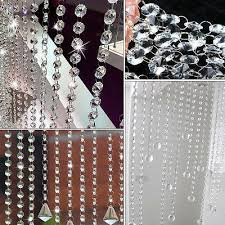 2pcs diy clear crystal glass chandelier swag prisms crystal bead chain wedding