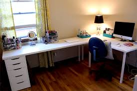 ikea desks office makeover part one modern martha within l shaped desk ikea prepare