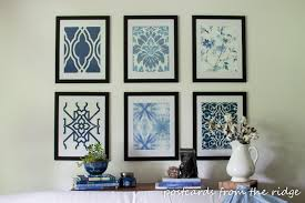 Here's a set of artwork inspired by Pottery Barn but for a fraction of the  price