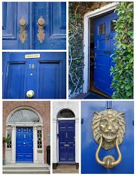 the regal blue hued painted exterior front door