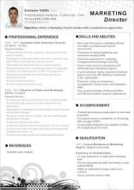Marketing Resume Template Free Resume Templates 2018