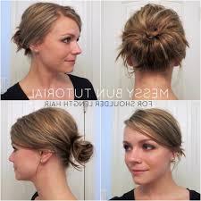 Messy Bun Short Hair Step By Step