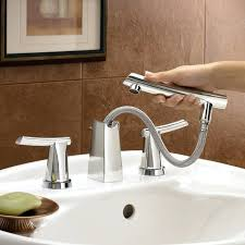 faucets that come out of the wall bathroom sink faucets green tea 8 inch widespread pull